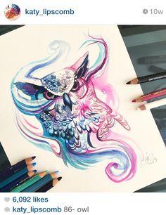 571f8b780 @katy_lipscomb Amazing Drawings, Beautiful Drawings, Beautiful Owl, Crayon,  Drawings Of Owls
