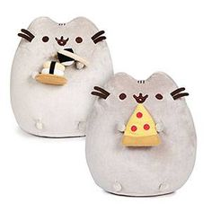 These soft, huggable Pusheen food plushies gives you the best of all possible worlds: a smiling, floofy, round Pusheen with a favorite food accessory to share a meal with, but you don't actually have to give up any of your own pizza or sushi! Pusheen Plush, Pusheen Cat, Birthday Goals, Birthday Mug, Pusheen Stuffed Animal, Food Plushies, Harry Potter, Nerd Gifts, Cute Kawaii Drawings
