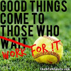 Softball players - Play Hard. Work Hard