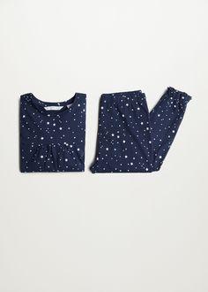 Underwear and pyjamas for Girls 2020   Mango Kids USA Girls Pajamas, Pajamas Women, Star Patterns, Print Patterns, Little Girl Closet, Kids Usa, Girl Sleeping, Long Pants, Pyjamas
