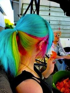 rainbow - This isn't an updo per se -- we just loved the colours. It would work well with our Whirl-a-Style though.