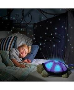 Turtle Night Light Star Child Sleeping P