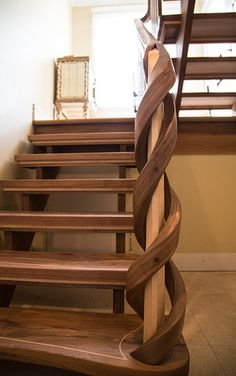Incredible staircase! NK Woodworking