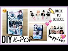 ▼DIY KPOP : Back To School Supplies [Part 1 : Notebook Collage]▼ - YouTube
