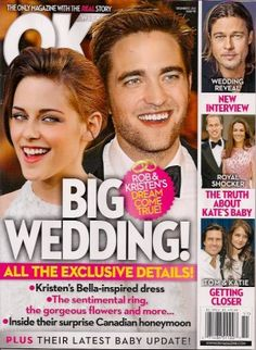 An alleged source has confirmed with OK! Magazine that 'Yes, Robert Pattinson & Kristen Stewart are Getting Hitched' And 'Scouting Locations' for their wedding day, its 'a real life wedding' this time.This inside source also goes on to dish, 'They're split between doing it in England or somewhere totally remote and tropical,'Kristen Stewart has...http://www.jaclyndiva.com/entry/wedding-bells-baby-talk-for-kristen-stewart-robert-pattinson
