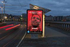 Mupi Coruña Maratón Atlántica 2014. C42. #design #creatividad #Branding
