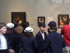 During our visit to the Rijksmuseum's,  we came upon a school group visiting from England.