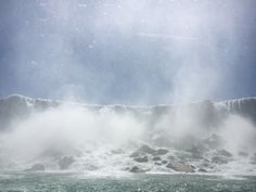 The Hornblower cruise took is right up to the falls!