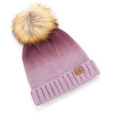 Cheveux Corp. Purple Ombré Faux Fur Pom-Pom Beanie ($12) ❤ liked on Polyvore featuring accessories, hats, faux fur pom pom beanie, faux fur beanie, purple beanie, faux fur pom pom hats and pom pom beanie hat