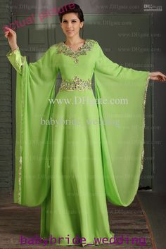 islamic formal gowns | ... Muslim Dress Poet Long Sleeve With Beaded Evening Dresses Formal Gowns