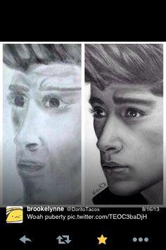 Zayn Malik Drawing Skills One Direction f...