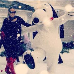 "Pin for Later: Nobody Does Christmas Quite Like Mariah Carey  Snoopy guest-starred in her music video for ""When Christmas Comes"" with John Legend in 2011."