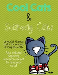 113 page packet with TONS of activities for Pete the Cat, Splat the Cat (and other generic Cat themed books!)  $  ALSO included is a beginning research packet to learn about REAL cats!!!!!