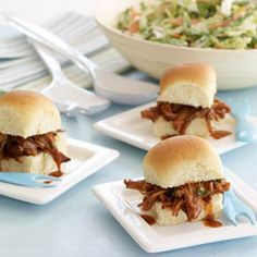 South Carolina BBQ Pork Sliders - Woman's Day- think I'm going to serve mine on mini croissants