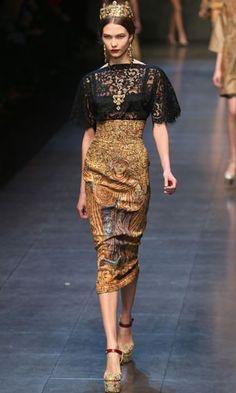 Dolce & Gabbana Autumn Winter 2013 - Milan Fashion Week