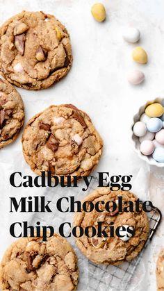 Favorite Cookie Recipe, Best Cookie Recipes, Sweet Recipes, Milk Chocolate Chip Cookies, Cadbury Cookies, Chocolate Cookie Recipes, Fun Baking Recipes, Dessert Recipes, Delicious Desserts