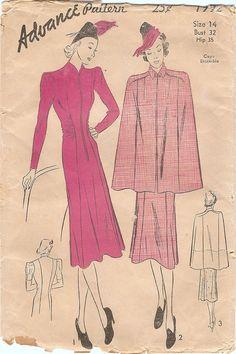 Fab Unused Vintage 1930s Advance 1992 Zip by NostalgieVintage