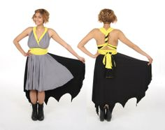 Batman inspired Comic Book Convertible Dress by LittlePetalNYC, $200.00