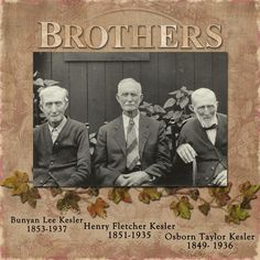 Brothers...strong and masculine page with nice use of arch over photo top and ivy border.