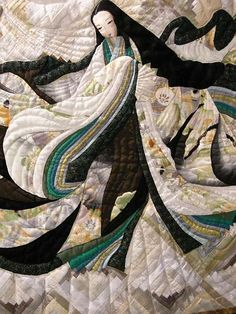 Quilted women dressed in junihitoe