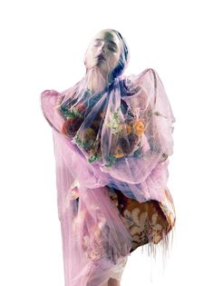holy flowers (Dazed & Confused). styled by Robbie Spencer (fashion) and Karin Bigler (hair), photographed by Pierre Debusschere, model Zuzanna Bijoch.