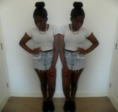 Ally looks cute in these frilly cut offs at http://www.perksofbeingally.blogspot.co.uk  Available now at http://www.bragvintage.co.uk