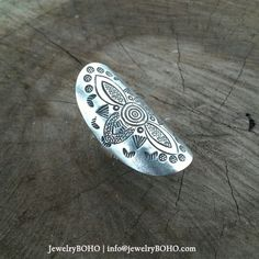 New to jewelryboho4u on Etsy: BOHO 925 Silver Ring-Gypsy Hippie RingBohemian styleStatement Ring R017 JewelryBOHOHandmade 925 Sterling silver BOHO Tribal ring (33.00 USD)