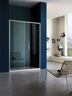 #shower cabin with sliding door PIXEL by Samo #bathroom