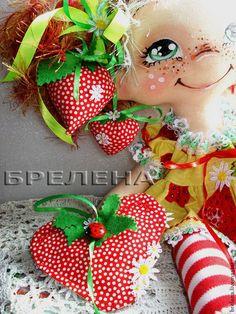 Кукла Ягодная девочка - феечка лета. - рыжий,интерьерная кукла,текстильная кукла