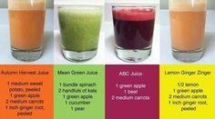 Jack Lalaine's juice recipes