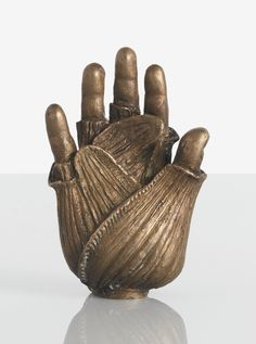 """Claude Lalanne """"MAIN-FENOUIL"""" number two from an edition of twenty-five impressed LALANNE 2/25 86 and CL/LALANNE/1/8 patinated bronze 4 5/8  x 3 x 1 7/8  in. (11.7 x 7.6 x 4.8 cm) 1986"""