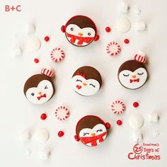 These peppermint penguin cookies are *almost* too cute to eat! Christmas Deserts, Christmas Goodies, Cupcake Videos, Cookie Videos, Mary Berry, Christmas Cooking, Holiday Cookies, Cookie Recipes, Dessert Recipes