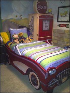 vintage corvette bed
