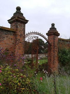 Walled garden and gates