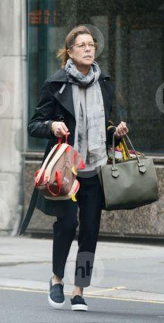 London / 12. April 2015 Grace Kelly, Monaco Princess, Princess Style, Princess Fashion, Monaco Royal Family, Princess Stephanie, Charlotte Casiraghi, Old Women, Autumn Fashion