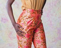 brocade pants 70s - Google Search Parachute Pants, Trousers, Mood, Popular, Google Search, Etsy, Shopping, Fashion, Trouser Pants
