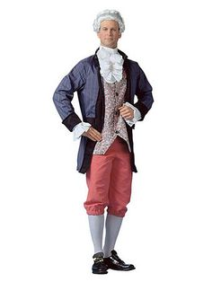 Brand New Historical Patriotic Man Colonial Adult Costume