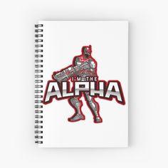 'I'm The Alpha Spiral Notebook by CavemanMedia Notebook Design, Journal Notebook, Notebooks, Journals, Spiral, My Arts, Art Prints, Printed, Paper