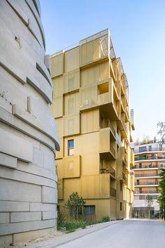 hamonic and masson golden cube student housing ZAC seguin boulogne-billancourt paris designboom