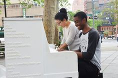 2015 Sing for Hope Piano installed in Tribeca Park