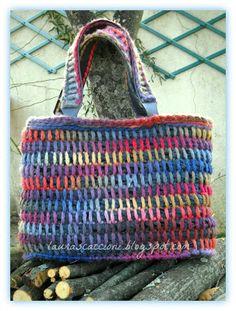 Borsa a punto tunisi - Tunisian Crochet Bag
