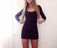 black tight short homecoming dresses  | ... black-dress-bodycon-dress-black-dress-short-bodycon-short-long-sleeve