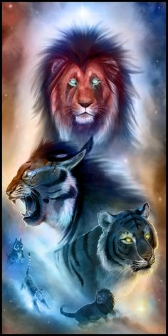 From the Realm of Light by Starcanis on DeviantArt Lion Live Wallpaper, Animal Wallpaper, Lion King Art, Lion Art, Big Cats Art, Cat Art, Tiger Artwork, Cool Artwork, Tiger Pictures