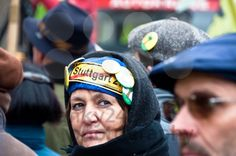 Stuttgart - Jan 29, 2011: Demonstration against S21 plans - royalty free photos by franky242 photography - buy and download this photo onlin...
