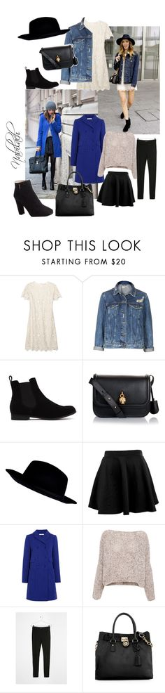xx by nabilach on Polyvore featuring Tory Burch, Pull&Bear, Carven, Topshop, MANGO, Prada, Michael Kors, Alexander McQueen and River Island