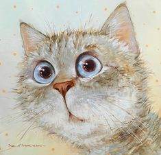 Cats And Kittens Art Illustrations Cat Drawing, Painting & Drawing, Painting Tips, Animal Paintings, Animal Drawings, Indian Paintings, Abstract Paintings, Splat Le Chat, Whimsical Art