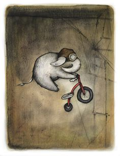 Because this is awesome. :: Stunt Broeder by CatherineLazarOdell Flying Elephant, Little Elephant, Elephant Art, Elephant Love, Elephants Never Forget, Elephant Illustration, Curious Creatures, Great Artists, Stunts