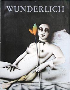 Paul Wunderlich. Poster Version of Blume Für Olympia, 1977.