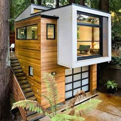 Stunning Exterior Decor Ideas A home with its own personality. More Modern Exterior Design Easy Woodworking Projects, Woodworking Plans, Learn Woodworking, Woodworking Videos, Modern Exterior, Exterior Design, Contemporary Cabin, Dyi, Décor Boho