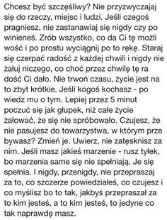 Love this pic. Only true in it :) Polish Language, Love Pictures, Just Me, Motto, Best Quotes, Texts, Motivational Quotes, Poems, Sad